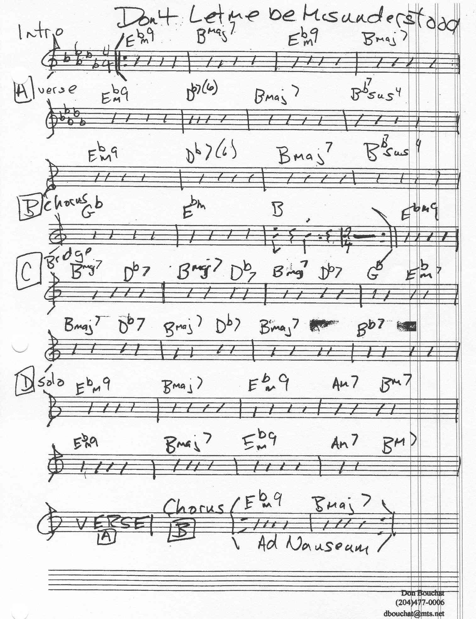 Index of chartsparagonlead sheet dont let me be misunderstood by ilona knopflerg dbg hexwebz Gallery